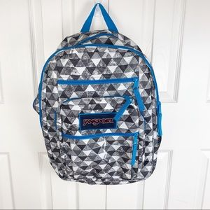 NEW JANSPORT  School Backpack Blue Geometric
